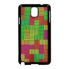 Colorful Stripes And Squares Samsung Galaxy Note 3 Neo Hardshell Case