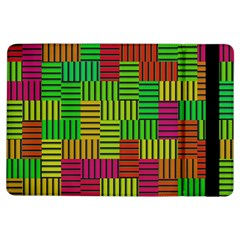 Colorful stripes and squares	Apple iPad Air Flip Case