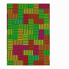 Colorful stripes and squares Small Garden Flag