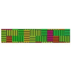 Colorful stripes and squares Flano Scarf