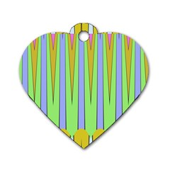 Spikes Dog Tag Heart (one Side)