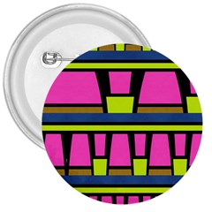 Trapeze And Stripes 3  Button