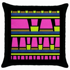 Trapeze And Stripes Throw Pillow Case (black)