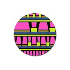 Trapeze And Stripes Magnet 3  (round)