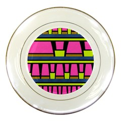 Trapeze And Stripes Porcelain Plate
