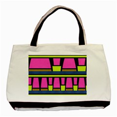 Trapeze And Stripes Basic Tote Bag (two Sides)
