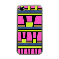 Trapeze And Stripes Apple Iphone 4 Case (clear)