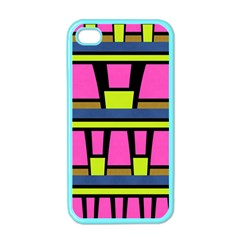 Trapeze And Stripes Apple Iphone 4 Case (color)