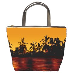 Tropical Sunset Paradise Bucket Handbag