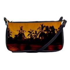 Tropical Sunset Paradise Evening Bag