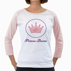 Princess Brenna2 Fw Women s Long Cap Sleeve T-Shirt (White)