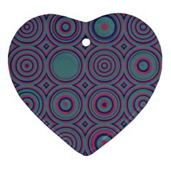 Concentric Circles Pattern Ornament (heart)
