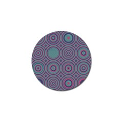 Concentric Circles Pattern Golf Ball Marker (10 Pack)