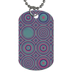 Concentric Circles Pattern Dog Tag (two Sides)