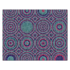 Concentric Circles Pattern Jigsaw Puzzle (rectangular)