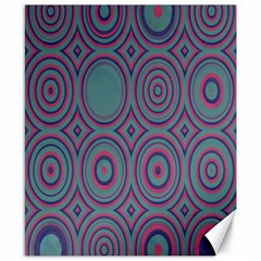 Concentric Circles Pattern Canvas 8  X 10