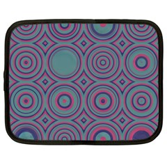 Concentric Circles Pattern Netbook Case (large)