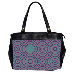Concentric Circles Pattern Oversize Office Handbag (2 Sides)