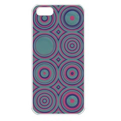 Shapes In Retro Colors Apple Iphone 5 Seamless Case (white)