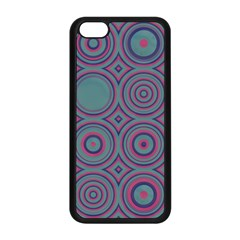 Shapes In Retro Colors Apple Iphone 5c Seamless Case (black)