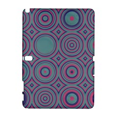 Shapes In Retro Colors Samsung Galaxy Note 10 1 (p600) Hardshell Case