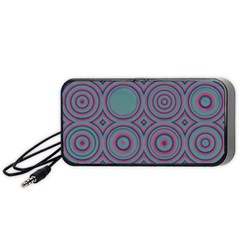 Concentric circles pattern Portable Speaker