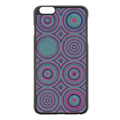 Concentric circles pattern Apple iPhone 6 Plus Black Enamel Case