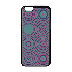 Concentric circles pattern Apple iPhone 6 Black Enamel Case