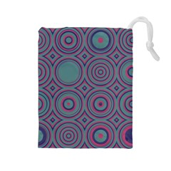 Concentric circles pattern Drawstring Pouch