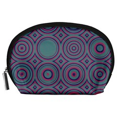 Concentric circles pattern Accessory Pouch