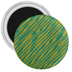 Blue Yellow Waves 3  Magnet