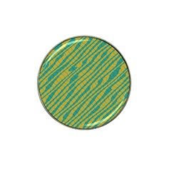 Blue Yellow Waves Hat Clip Ball Marker (10 Pack)