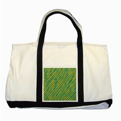 Blue Yellow Waves Two Tone Tote Bag