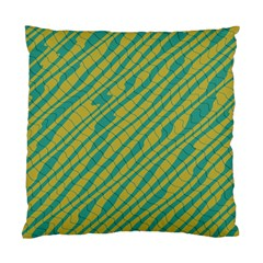 Blue Yellow Waves Standard Cushion Case (two Sides)