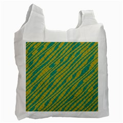 Blue Yellow Waves Recycle Bag (two Side)