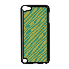 Blue Yellow Waves Apple Ipod Touch 5 Case (black)