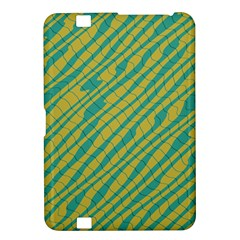Blue Yellow Waves Kindle Fire Hd 8 9  Hardshell Case