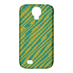Blue Yellow Waves Samsung Galaxy S4 Classic Hardshell Case (pc+silicone)