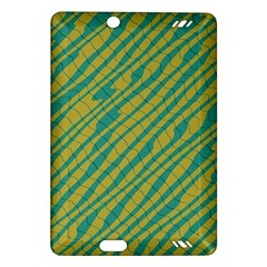 Blue Yellow Waves Kindle Fire Hd (2013) Hardshell Case