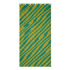 Blue Yellow Waves	shower Curtain 36  X 72