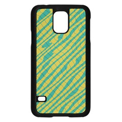 Blue yellow waves	Samsung Galaxy S5 Case