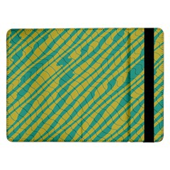Blue yellow waves	Samsung Galaxy Tab Pro 12.2  Flip Case