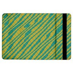 Blue yellow waves	Apple iPad Air Flip Case