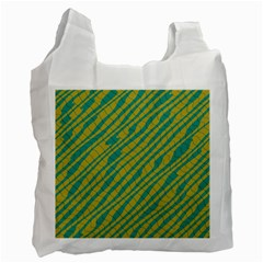 Blue Yellow Waves Recycle Bag