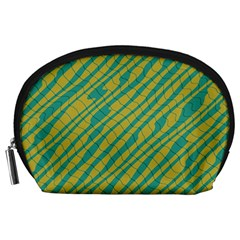 Blue Yellow Waves Accessory Pouch