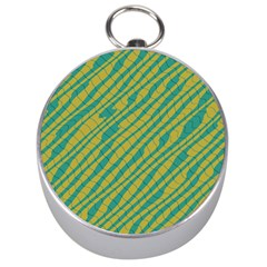 Blue yellow waves Silver Compass