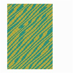 Blue Yellow Waves Small Garden Flag