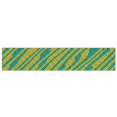 Blue Yellow Waves Flano Scarf