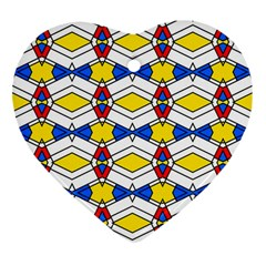Colorful Rhombus Chains Ornament (heart)