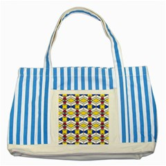 Colorful Rhombus Chains Striped Blue Tote Bag